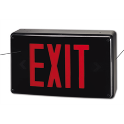 BEG EXIT SIGN IP66/VENDAL RESIST. CAST ALUM 120/347V RED SINGLE FACE  WALL MTG