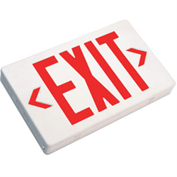 LK SELF  POWERED PLASTIC EXIT SIGN PLASTIC 120V